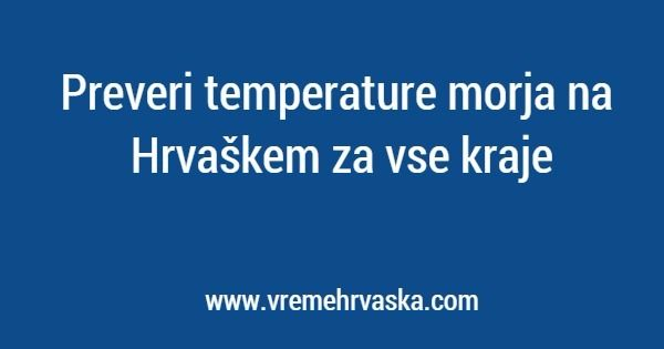 Temperatura morja