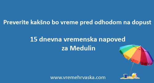 vreme medulin